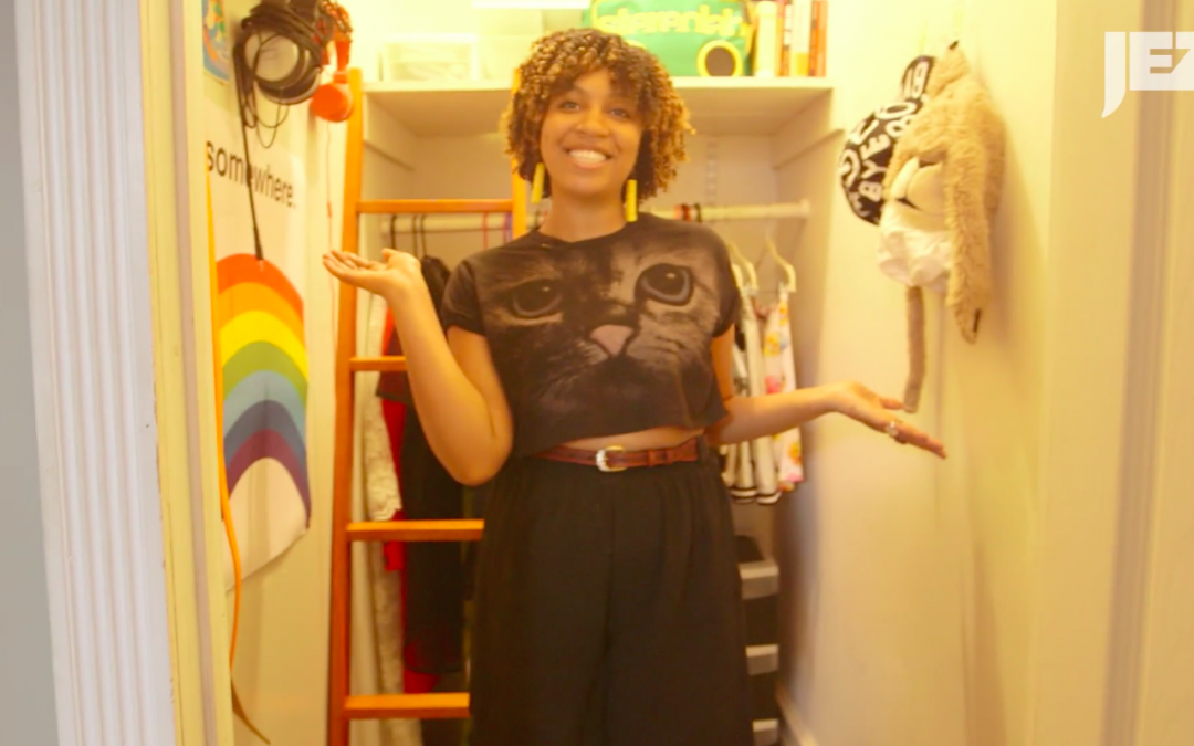 """Jezebel: Miss Eaves, of """"Thunder Thighs"""" Fame, Lets Us in on Her 'Eclectic, Really Funny' Wardrobe"""
