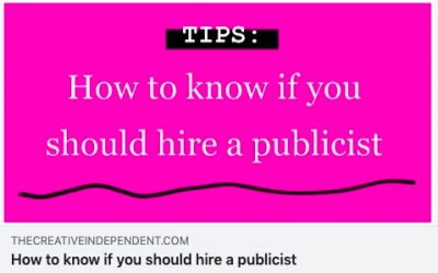 Kelly McClure, owner and head publicist, wrote a post for The Creative Independent that breaks down what a publicist does, and why you should have one.